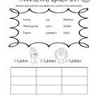Thanksgiving Literacy Printables