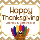 Thanksgiving Literacy and Math Activities Packet - Social Studies