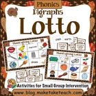 Thanksgiving Lotto- Consonant Digraphs