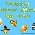 Thanksgiving Lowercase Alphabet Bingo Games- Set of 3