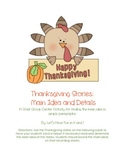 Thanksgiving Main Idea and Details
