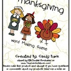 Thanksgiving Making Words Game