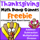 Thanksgiving Math Bump Games Freebie