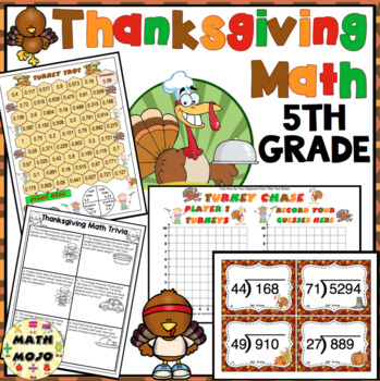Thanksgiving Math - Fifth Grade (Common Core Aligned)