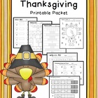 Thanksgiving Math &amp; Literacy Printable Packet