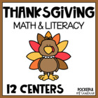 Thanksgiving Math & Literacy Work Stations