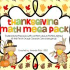 Thanksgiving Math Mega Pack (Thanksgiving Themed Centers f