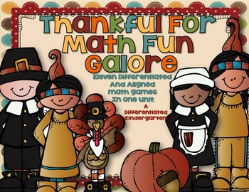 Thanksgiving Math Stations Galore-Eleven Differentiated and Aligned Activities