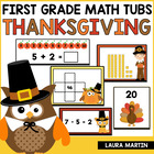 Thanksgiving Math Tubs-First Grade Common Core Activities