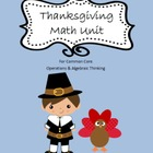 Thanksgiving Math Unit for common core