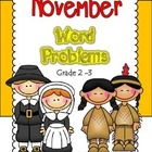 Thanksgiving Math Word Problem Packet Grades 1 - 3