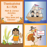 Thanksgiving Math and Literacy K-1 Fun / Common Core - Aligned