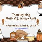 Thanksgiving Math and Literacy Unit {K-1 Common Core Aligned}