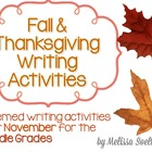 Thanksgiving (November) Themed Writing Activities