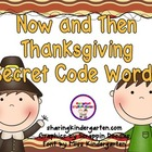 Thanksgiving Now and Then Secret Code Words
