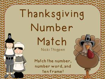 Thanksgiving Number Match