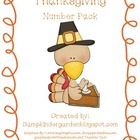 Thanksgiving Number Pack with Tens Frames