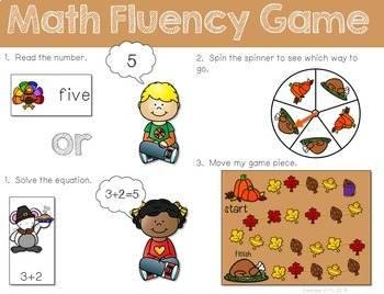 Thanksgiving! Numbers 0-9, Addition and Subtraction Math B