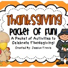 Thanksgiving Packet of Fun! {Thanksgiving activities for L