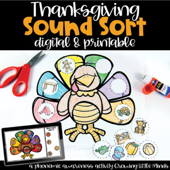 Thanksgiving Phonics Turkey Activity