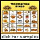 Thanksgiving Picture Bingo