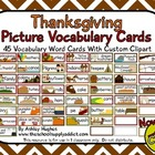 Thanksgiving Picture Vocabulary Cards {45 cards}