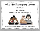 Thanksgiving Place Value & Greater Than, Less Than