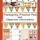 Thanksgiving Preschool Pack and Classroom Decorations