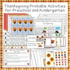 Thanksgiving Printable Activities for Preschool and Kindergarten
