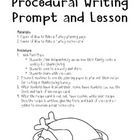 Thanksgiving Procedural Writing Lesson CC W.1.2, W.2.2 W.3.2