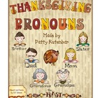 Thanksgiving Pronouns