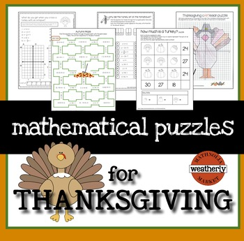 Thanksgiving Puzzles for Algebra