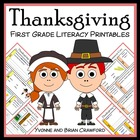 Thanksgiving Quick Common Core Literacy (1st grade)