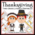 Thanksgiving Quick Common Core Literacy (3rd grade)