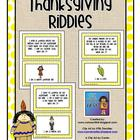 Thanksgiving Riddles Card Set