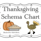 Thanksgiving Schema Chart Goodies