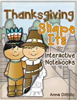Thanksgiving Shape-Its for Interactive Notebooks