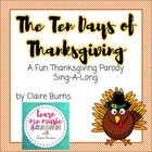 Thanksgiving Song: Ten Days of Thanksgiving