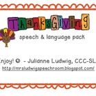 Thanksgiving Speech & Language Activities