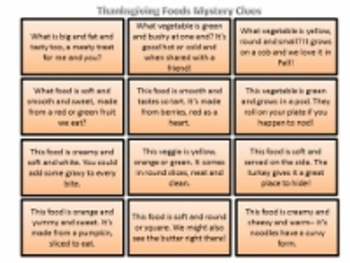 Thanksgiving Speech Therapy Activities: Descriptive Vocabulary