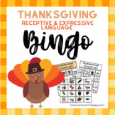 Thanksgiving Speech Therapy Activities: Receptive and Expr