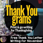 Thanksgiving Thank You Grams Freebie