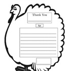 "Thanksgiving ""Thank You"" Writing Assignment / Thanksgiving Card"