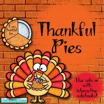 Thanksgiving Thankful Writing Pies Craftivity Free