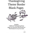 Thanksgiving Theme Border Blank Pages