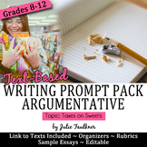 Thanksgiving Themed Argumentative Writing Prompt Pack {Obe
