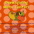Thanksgiving-Themed Math Centers