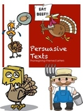 Thanksgiving Themed Persuasive Text Activities