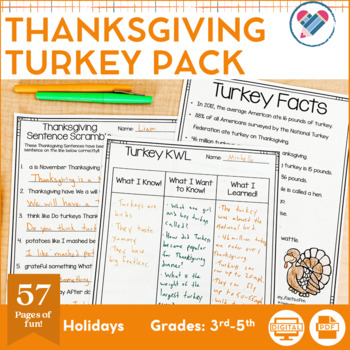 Thanksgiving Turkey Pack!