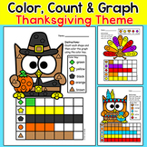 Thanksgiving Turkey - Shape Count and Graph Math Activity
